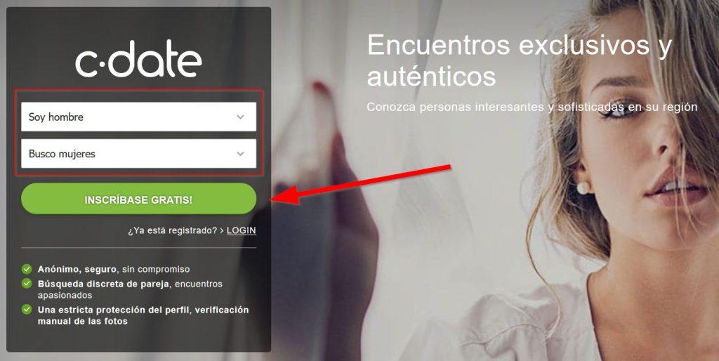 Registro gratuito y creación de perfil